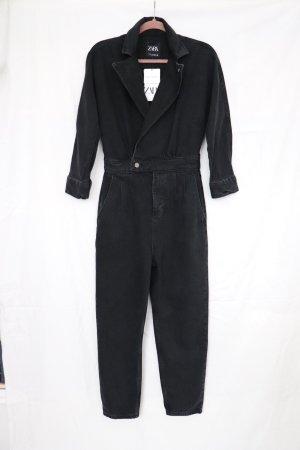 Neuer Denim Overall Jumpsuit Einteiler Boilersuit von Zara Größe XS S