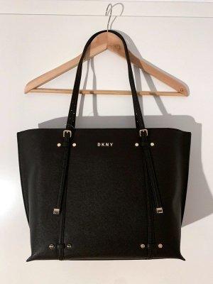 Neuer DKNY Shopper Handtasche in schwarz mit goldenen Details