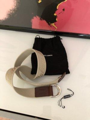 Dolce & Gabbana Cinturón de lona color oro