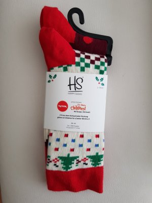 Happy socks Scaldamuscoli bianco-carminio