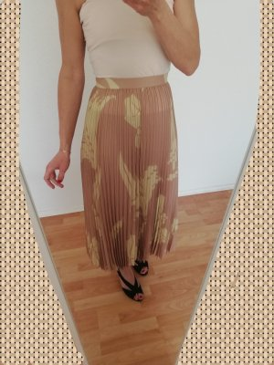 H&M Plaid Skirt cream