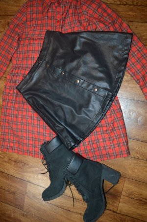Nakd Faux Leather Skirt black