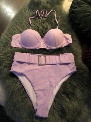 Neuer Flieder highwaist Bikini mit Gürtel