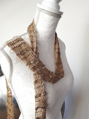 Crochet Scarf gold-colored