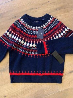 Neuer Gant-Pullover aus 100% Wolle. Norweger Stil