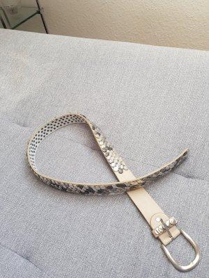 Boucle de ceinture argenté-beige clair