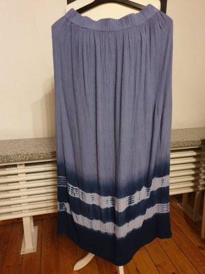 Maxi Skirt cornflower blue-white