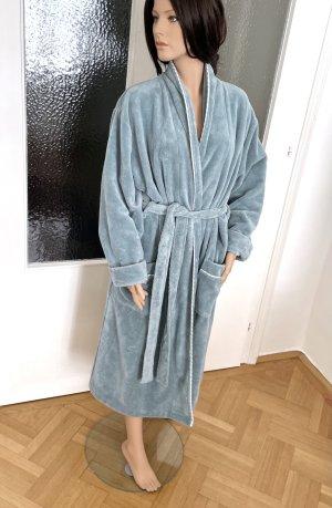 Schiesser Peignoirs de bain gris vert tissu mixte