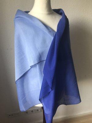 Szal letni stalowy niebieski-błękitny Bawełna