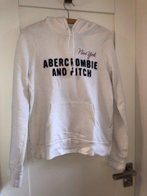 Abercrombie & Fitch Felpa con cappuccio bianco