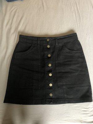 Stradivarius Denim Skirt black