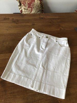 Madeleine Denim Skirt white cotton