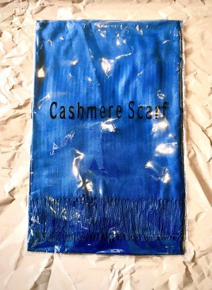 0039 Italy Fringed Scarf multicolored cashmere