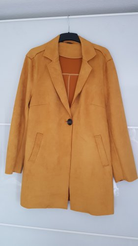 b.p.c. Bonprix Collection Faux Leather Coat yellow-gold orange