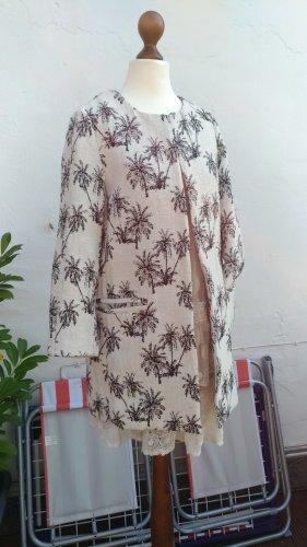 Neuer Kurzmantel von Zara mit Palmenmuster, Gr. 36 (S)
