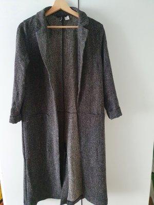 H&M Waxed Jacket black-grey