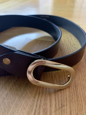 Neuer Ledergürtel mit goldener Schnalle von Tamaris