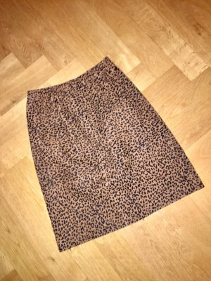 Depeche Falda de cuero marrón-negro