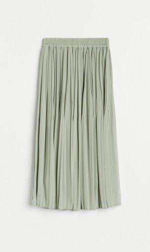 Reserved Midi Skirt sage green-mint