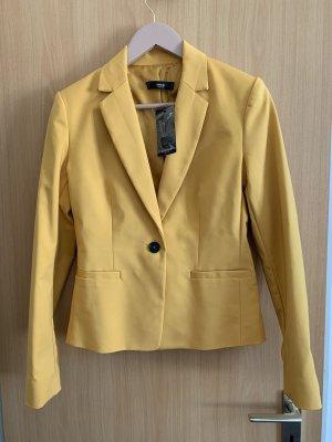 Mango Blazer en jersey orange doré-jaune