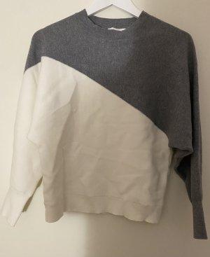 NEUER Mango Pullover in weiß/grau