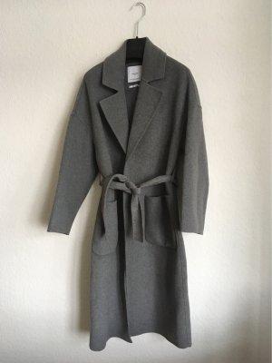 Mango Cappotto in lana grigio