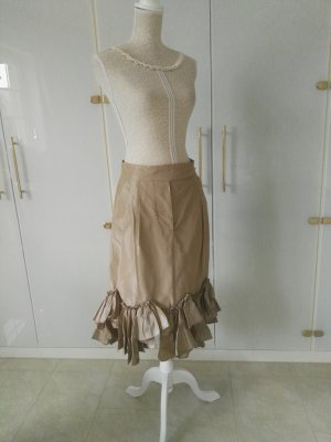 Max Mara Flounce Skirt cream