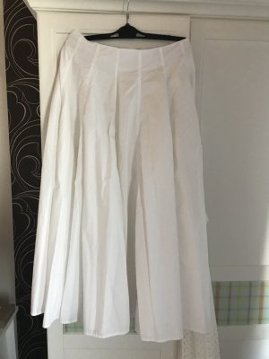 COS Jupe longue blanc coton