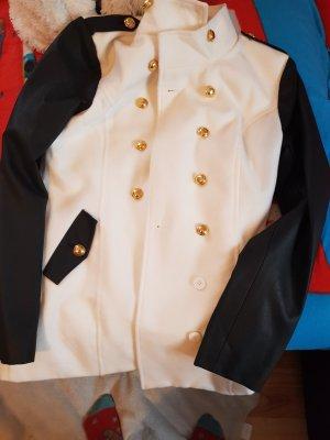 Melrose Veste militaire blanc cassé-noir