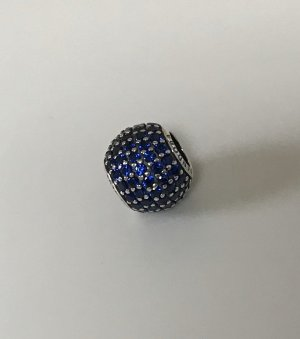 Neuer NP65 Pandora Charm Pavé Kugel blau, Silber
