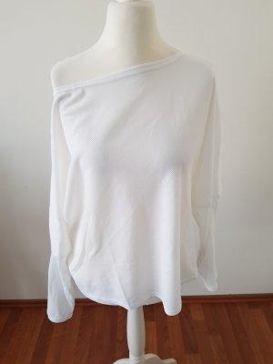 neuer oneshoulder pullover weiß gr.m/l