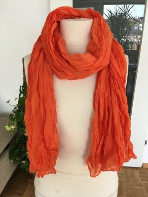 Sciarpa di seta arancio neon-arancione