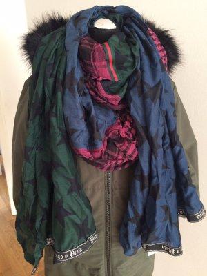 Plomo o plata Bufanda de seda multicolor