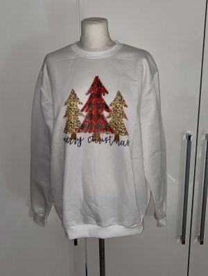 Sudadera navideña blanco