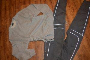 Topshop Jersey de cuello redondo gris claro-gris