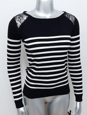 Neuer Pullover Gr. XS GDM GDM schwarz weiß gestreift spitze grain de malice pulli
