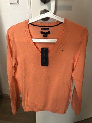 Tommy Hilfiger V-Neck Sweater apricot-neon orange