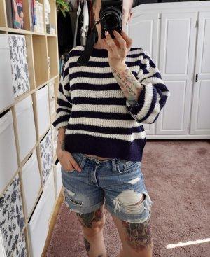 Neuer Pullover von H&M Größe S blau weiß gestreift Streifen Vintage Maritim