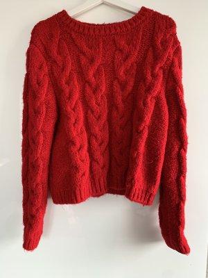 Zara Wool Sweater carmine-dark red