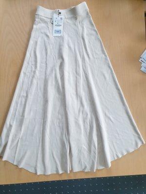 Zara Jupe tricotée blanc cassé