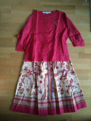 Plaid Skirt dark red-oatmeal