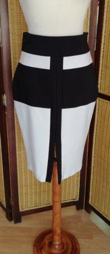 Marciano Jupe taille haute noir-blanc cassé tissu mixte