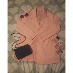 neuer rosefarbener blazer/jacke