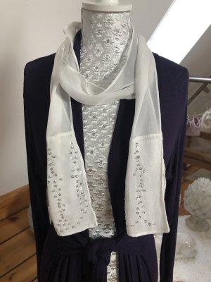 Neuer Schal/Tuch, weiß mit Glitzer, perfekt für die Festtage
