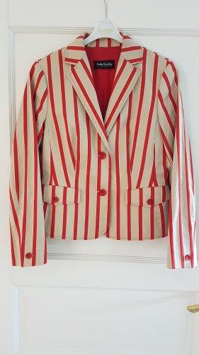 Neuer, schicker Betty Barclay Businessblazer NP 129€ Blazer Jacke Anzug 40 38 beige rot