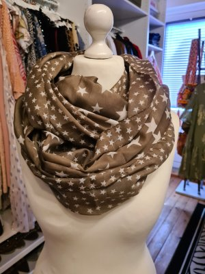 Even&Odd Curvy Tube Scarf sand brown-white