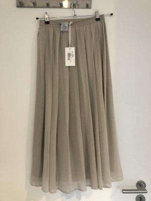 Le Tricot Perugia Jupe en soie gris clair