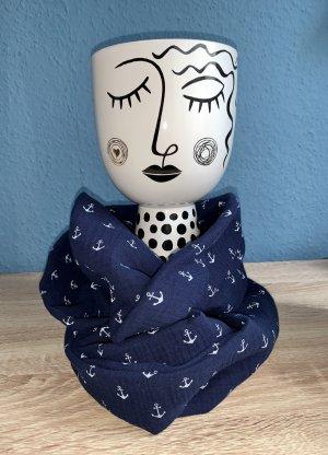 Handmade Bufanda tubo azul