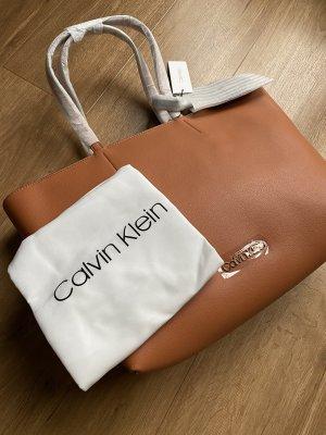Calvin Klein Shopper cognac Leer