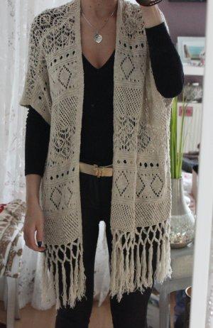 Vero Moda Crochet Cardigan cream-oatmeal